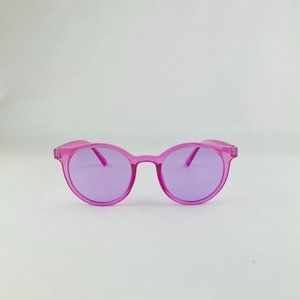 COPY - awesome round translucent purple sunglasses